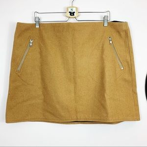 Gap Beige Tan Wool Blend Short Skirt Plus size20